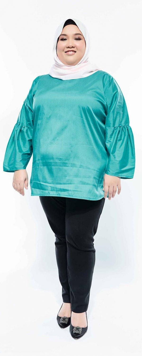 Zaraa Blouse – Teal Green