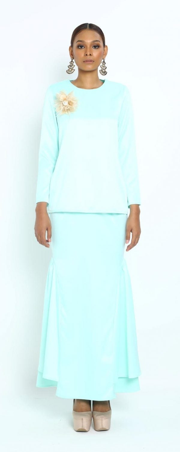 Arina Kurung – Mint Green